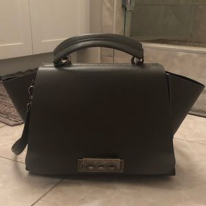 ZAC Zac Posen gray cross-body purse
